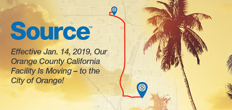 We're Moving- Our Orange County California facility moves to the City of Orange!