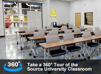 Take a 360° Tour of the Source University Classroom